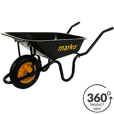 Wheelbarrow Garden Wheel Barrow Extra Large 150KG Pneumatic Tyre 85 Litre Cart