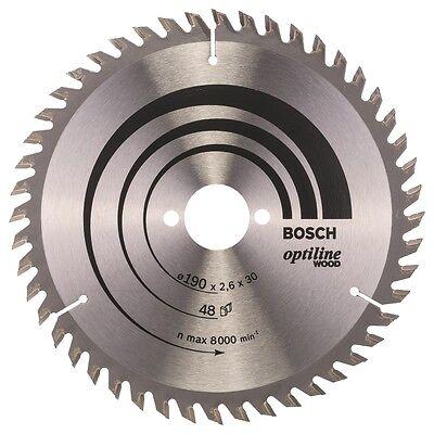 Bosch Kreissägeblatt 190mm 48WZ Optiline Wood 190 x 30 x 2,6 mm f. Handkreissäge