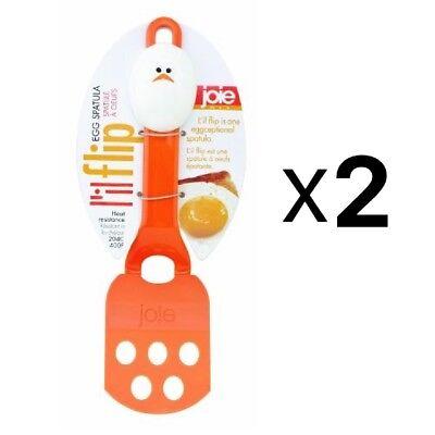 Joie MSC L'il Flip Nylon Egg Spatula with Plastic Handle (2-Pack) (Nylon Spatula)