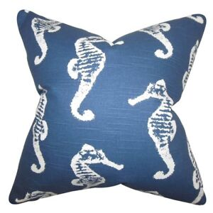 The Pillow Collection Navy Blue Jolyon Coastal Bedding Sham, King, 20