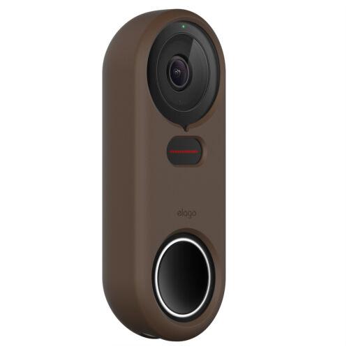 Google Nest Hello Doorbell Cover - elago®  Silicone Case [Dark Brown]