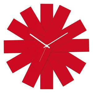 orologio parete rosso