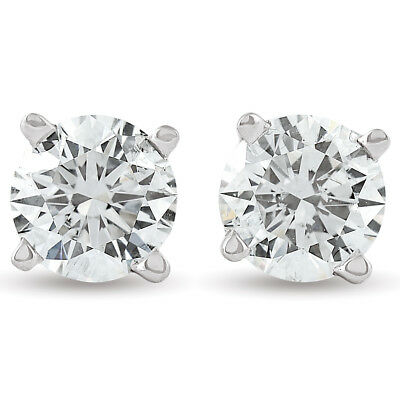 3/4ct Diamond Studs 14K White Gold