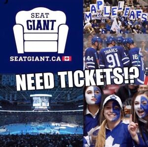 TORONTO MAPLE LEAFS TICKETS FROM $109 CAD!!!