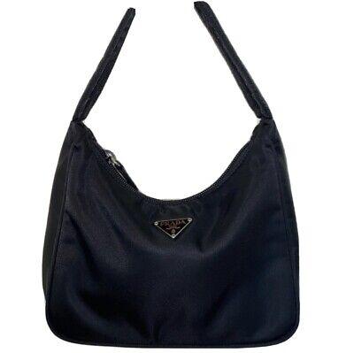 '00 Vintage Original NWT Prada Necessarie Tessuto Sport Black Nylon Shoulder Bag