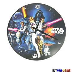 Star Wars Wall Wooden Black 13.5 Battery Operated Clock