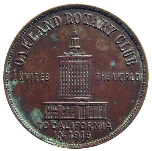 California Trade Token - 2 Days at Hotel Oakland (1914-1915) San Francisco, PPIE
