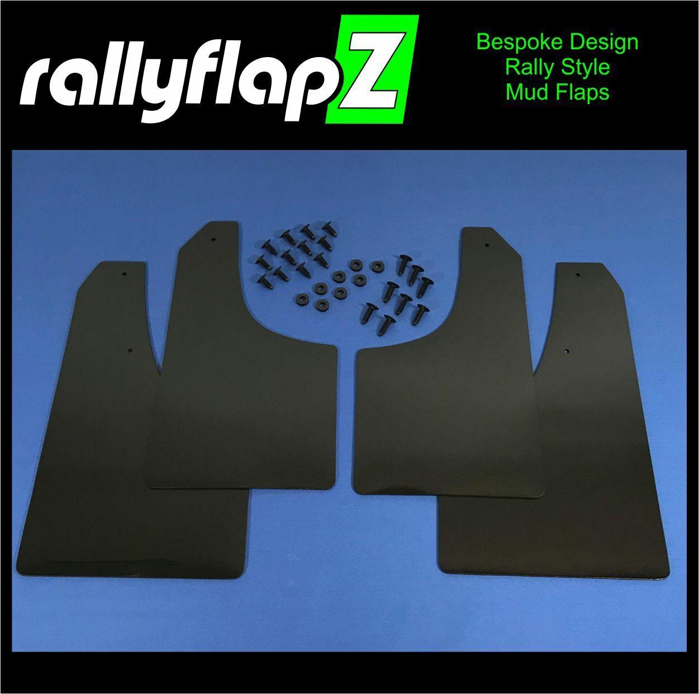 Bavettes Ford Focus MK2 ST225 RallyflapZ Bavette en Electric Orange 4 mm PVC