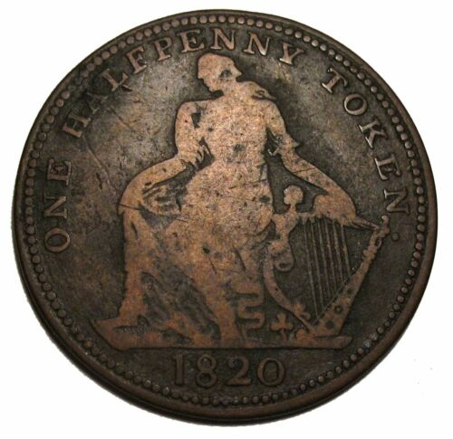 Canada 1820 Trade And Navigation One Half Penny Token Breton 894
