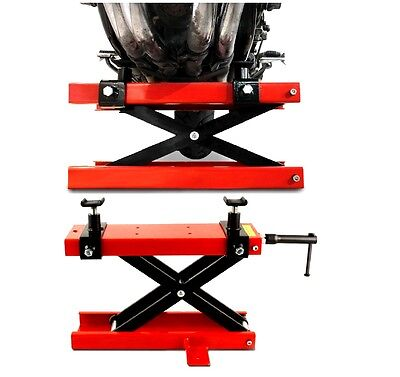 NEW 1100LBS 500KG HYDRAULIC MOTORCYCLE STAND SCISSOR PADDOCK STAND LIFT JACK