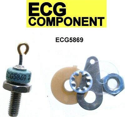 Ecg5869 Silicon Power Rectifier Diode 6 Amp Do4 New Ecg 5869