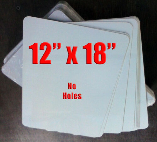 "12"" x 18"" Aluminum Sublimation Blanks LOTS OF 20 - NO HOLES"