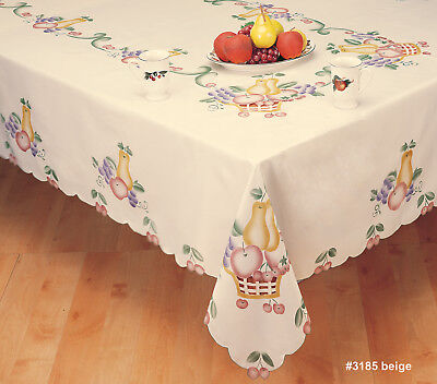 Creative Linens Fall Harvest Thanksgiving Fruit Basket Tablecloth - Thanksgiving Tablecloths