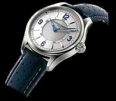 FREDERIQUE CONSTANT SMARTWATCH SILVER DIAL BLUE LEATHER STRAP FC-282AS5B6, New