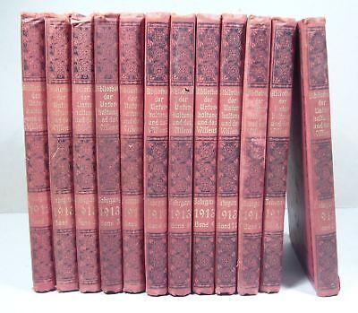 BIBLIOTHEK DER UNTERHALTUNG UND DES WISSENS, Konvolut 12 Bände 1912 / 1913