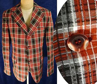 VINTAGE plaid seersucker 42l smoking suit blazer lounge - Clown Anzüge