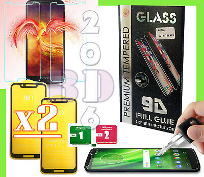2x Tempered Glass 9D Screen Protector For Motorola Moto E6 Plus/G7 Play/G8 Plus