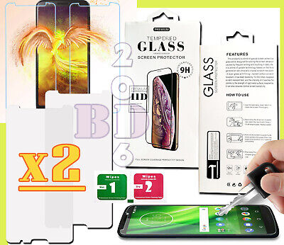 2x Tempered Glass 9H Screen Protector For Motorola Moto E5/G6/G7 Plus/Play/Power