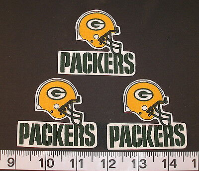 Nfl Team Fabric - Green Bay Packers NFL Team Fabric Iron On Applique Patch NO SEW Logo DIY Craft