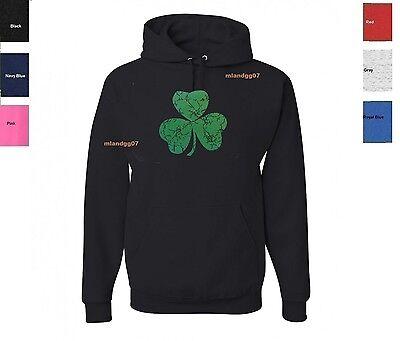 -  Irish Leaf Clover Ireland Sweatshirt Shamrock  Hoodie SIZES S-3XL