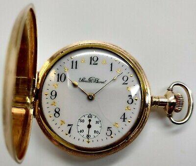 Vintage South Bend Grade 212 17 jewel 16s Fancy Dial pocket watch Running