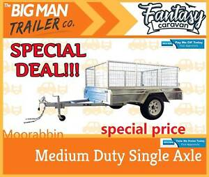*##7x4 GalvaniSed Trailer With Cage※40mm Solid Axle