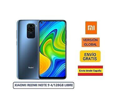XIAOMI REDMI NOTE 9 4/128GB NFC GLOBAL LIBRE PRECINTADO GRIS (MIDNIGHT GREY)