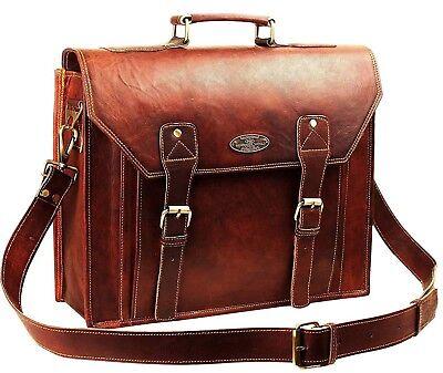 USA Men Vintage Best Leather Messenger Laptop Satchel Shoulder Bag