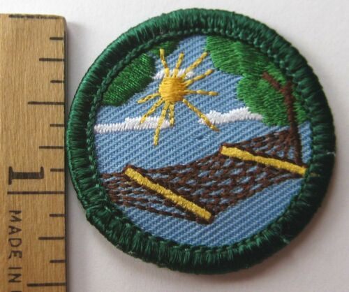 Retired Girl Scout Junior STRESS LESS BADGE Hammock Napping Patch VERY HTF New!