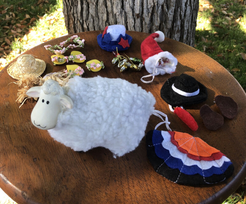 Resin Lamb With Interchangeable Costumes