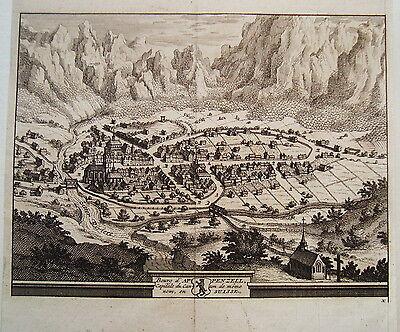 Appenzell Schweiz seltener  Kupferstich P. van der Aa 1714