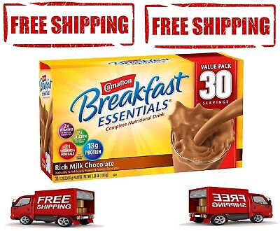 Carnation Breakfast Essentials Nutritional Drink, Chocolate - 30 -