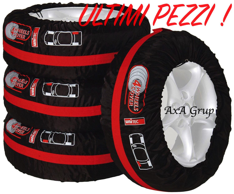 Borse auto custodie copri gomme per tutti tipi ruote e cerchi Set x4 pneumatici