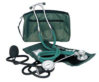 Dixie Ems Professional Blood Pressure Kit W Sprague Stethoscope Hunter Green