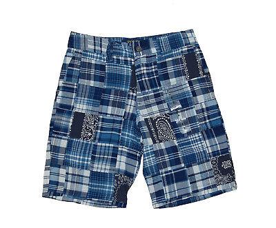 NWT Ralph Lauren Polo Boys Plaid Patchwork Cotton Shorts
