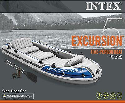 Intex 68325EP Excursion 5 Person Boat Set