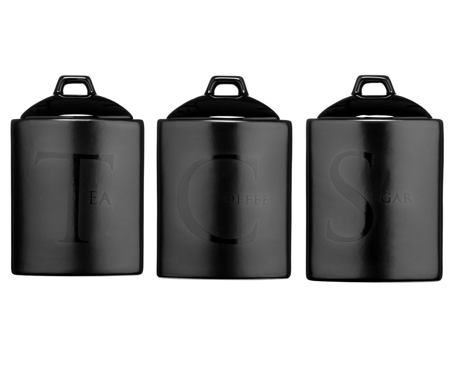black kitchen canisters ceramic tea coffee sugar canisters kitchen storage jars 10742