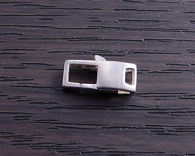 (One Sterling Silver 12.9 mm Square Lobster Claw Clasp DB4N)