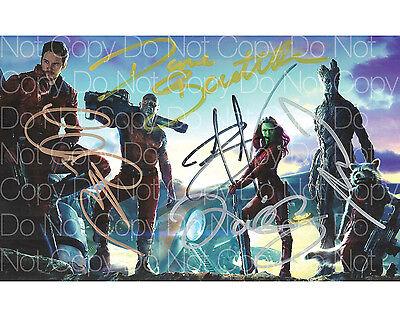 Guardians of the Galaxy signed Pratt Saldana 8X10 photo picture autograph RP