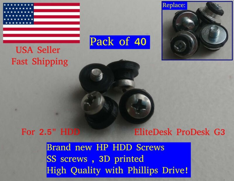 "40X HP 2.5"" HDD SSD Screws EliteDesk ProDesk G3 - Pro EliteOne G1 G2 511945-005"