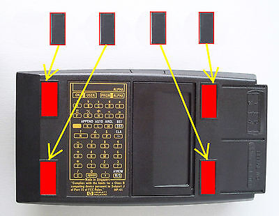 Rubber Feet for HP-41C, HP41-CV, HP41-CX and HP71B & HP 82104 card reader