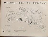1938 Comuni Provincia Genova Carta Topografica Torriglia Neirone Ne Lavagna Mele -  - ebay.it