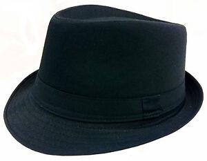 KIDS-FEDORA-BUCKET-BOYS-GIRLS-HAT-Children-CAP-BLACK