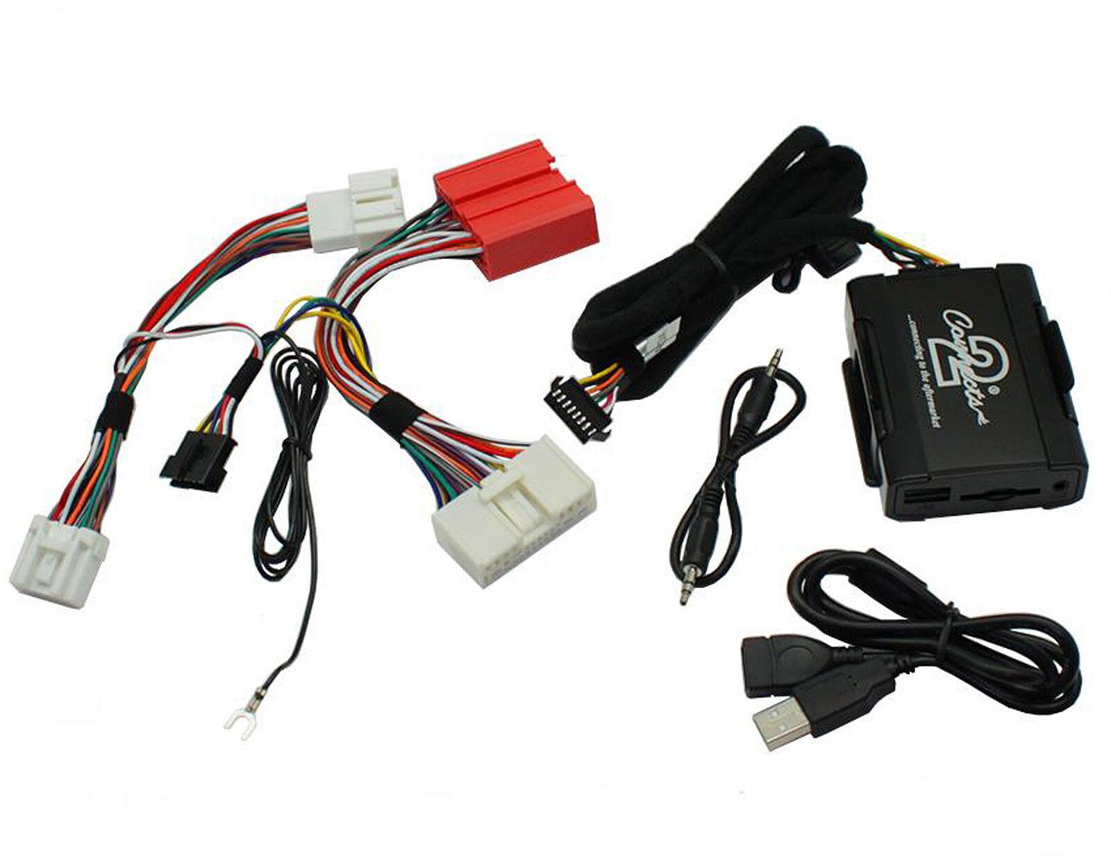 Mazda 3 5 6 USB adapter interface CTAMZUSB002 car AUX SD input MP3 jack 2009 on>