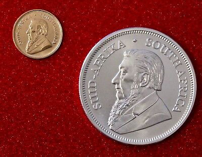 2018 1/10oz .999 Gold & 2017 1oz .999 Silver Krugerrand GREAT CHRISTMAS GIFT for sale  Shipping to Canada