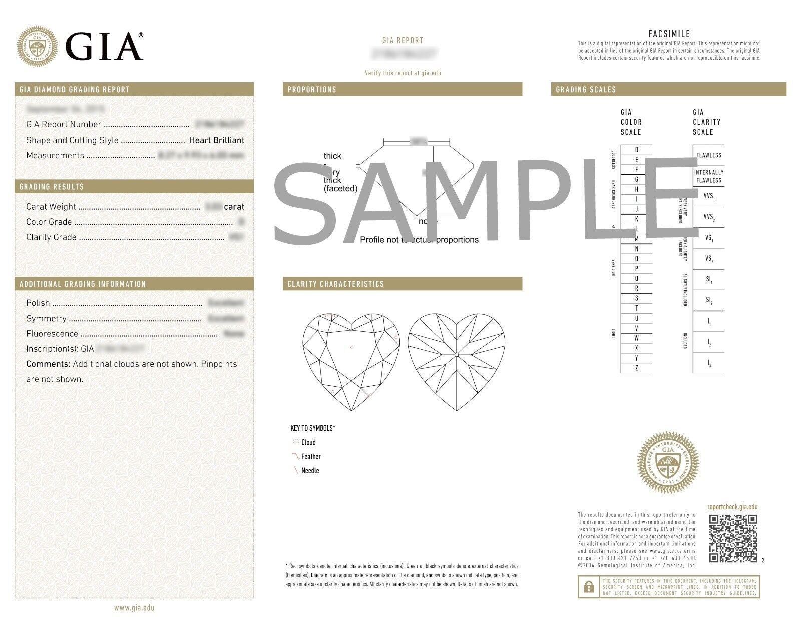 2.24ctw Halo Milgrain Edge Bridal Heart Diamond Engagement Ring GIA F-VS1  Gold 6