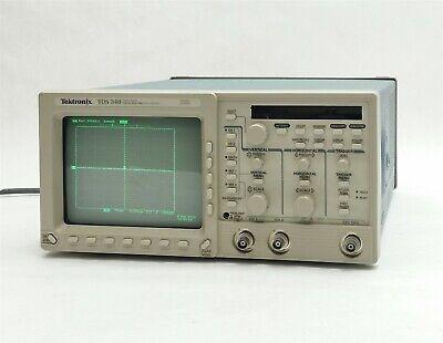 Tektronix Tds 340 2-channel Real-time Digital Oscilliscope Gpib 100mhz 500mss