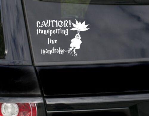 Caution Mandrake baby on board kids funny car/bumper sticker/vinyl
