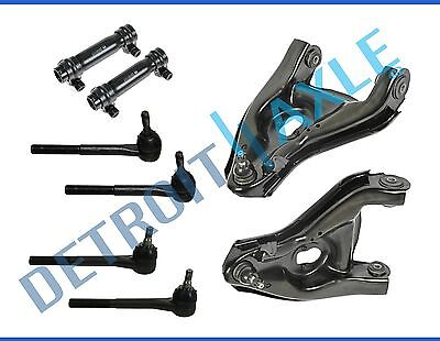 Complete 8pc Kit Lower Control Arms + Ball Joints + Outer Inner Tie Rods - 2WD