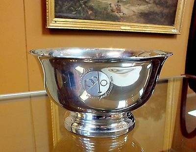 Tiffany & Co Pewter Revere Bowl Denver BMW Polo Invitational Classic Collectible Pewter Revere Bowl